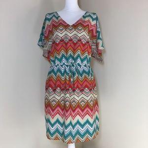 Lane Bryant Zig Zag Printed Dress 18/20